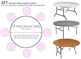 standard round table size round table sizing chart standard table size to seat 8