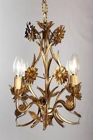 vintage gilded crystal italian hollywood regency chandelier