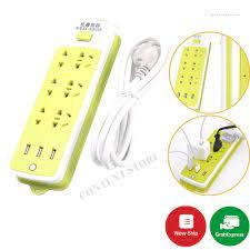 Ổ Điện Đa Năng 9 Ổ Cắm 3 Cổng USB Có Thể Sạc Điện Thoại - Ổ cắm điện