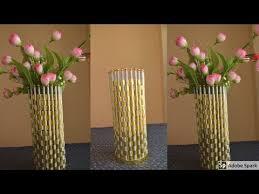 News Paper Flower Vase Newspaper Flower Vase Newspaper Craft Ideas Best Out Of