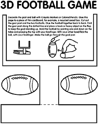 Small Picture 3D Football Game Coloring Page crayolacom