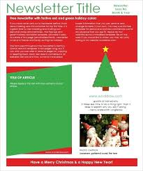 Free Download Newsletter Templates Christmas Newsletter Template Free Download Holiday Newsletter