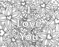 I Love You Coloring Pages For Adults Coloring Pages I Love You