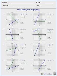 graphing systems of equations worksheet graphing systems of equations worksheet solving two variable
