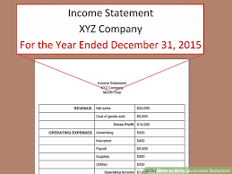 Components Of Income Statement Fascinating How To Write An Income Statement With Pictures WikiHow