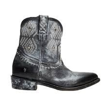 frye women s billy stud short black leather boots