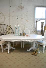 Painted Cottage Chic Shabby White French Dining Table