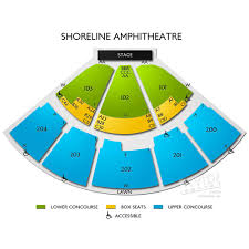 Shoreline Amphitheatre Seating Chart Niall Horan In Mountain View Niall Horan Tickets 2018