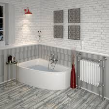 acrylic clia left hand offset corner bath panel