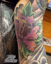 тату пион тату японский пион тату на руке