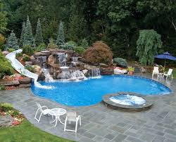 backyard pool with slides. Backyard Pool Designs With Slides Indoor Swimming Small Ideas Slide Diy  Fiberglass Water And Private Hot . Pools