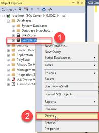sql server drop database explained by