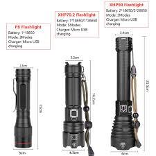 Mạnh Mẽ XHP70.2 XHP90 LED Đèn Pin Đèn Pin Sạc Siêu Chống Thấm Nước Zoom Tốt  Nhất Cho Cắm Trại Câu Cá Săn Bắn Ánh Sáng|Đèn Pin LED