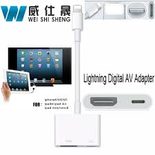 light to av hdmi hdtv tv digital cable adapter for apple iphone 5 5s 6 6s ipad lightning digital av adapter for iphone 7 7plus