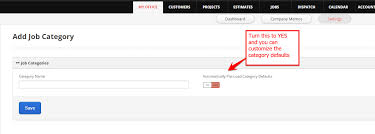 How to add a Job Category and customize it   servicefusion