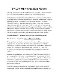 th law of newtonian motion