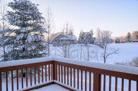 snow and ice can make your deck into a slip risk so take precautions