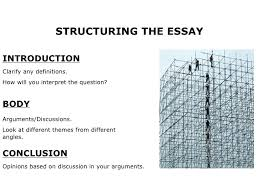 writing and structuring an essay structuring the essay introduction