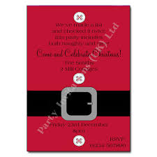 Christmas Inviations Santa Suit Christmas Party Invitation