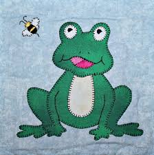 Frog or toad PDF applique quilt block pattern This frisky frog is ... & Frog or toad PDF applique quilt block pattern This frisky frog is hoppy to  meet you Adamdwight.com