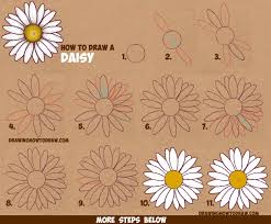 Small Picture How to Draw a Daisy Flower Daisies in Easy Step by Step Drawing
