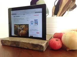 diy wooden ipad holder