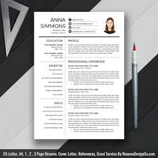 Good Modern Resume Fonts 2020 Ms Word Resume Template Cover Letter And References