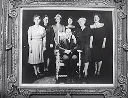 A framed photograph of Everett P. Digberry (Byron Foulger) with his  180-pound wife and his five daughters | The Panther's Claw (1… | Poster,  Movie posters, Movies