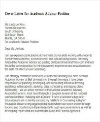 Cover Letter For Academic Position 6 Sample Academic Advisor Cover Letter Free Sample
