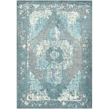 off white area rug distressed teal off white area rug blue and white area rugs 5x7