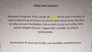 Aachener Kündigt Per Aushang Party An Die Nachbarn Reagieren Unfassbar Spießig