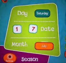 Fiesta Crafts Fabric Star Chart Fiesta Craft Childrens Multicoloured Fabric Calendar