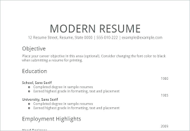 A Simple Resume Example A Simple Resume Sample Simple Form Simple ...