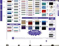 3m Stripe Chart Prostripe Striping Color Chart For Signmaking From Beacon