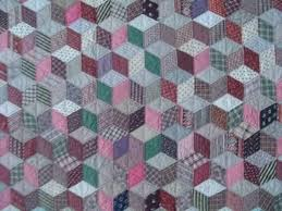 8 best flamingo quilts images on Pinterest | Cushions, Decoration ... & Marie Miller Antique Quilts ~ Tumbling Blocks Adamdwight.com