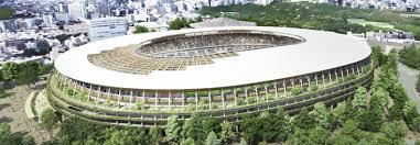 2020 Olympics Stadium Design Tokyo Breaks Ground On Kengo Kumas Olympic Stadium