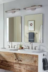 best bathroom lighting. Hidden Within A Sleek Metal Body, An Ultra-thin LED Light Guide Panel Produces Plenty Of Task Illumination In This Vertura 24 Bath By LBL Lighting. Best Bathroom Lighting F