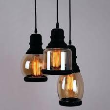 glass mason jar pendant lighting with 3 lights black finish ceiling light chandelier
