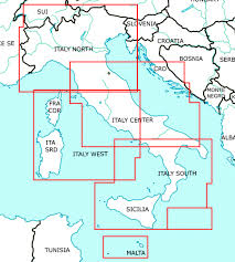 Charts Italien Italy Set Of 2 Wallcharts Icao Vfr Aeronautical Charts 500k 2019