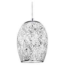 8069wh le modern 1 light white mosaic glass ceiling pendant light