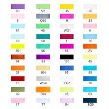 Ohuhu Color Chart Ohuhu 40 Colors Dual Tips Alcohol Art Markers Fine Chisel