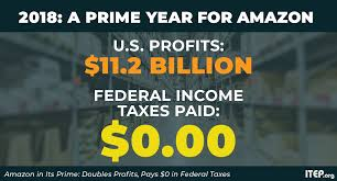 Tax Print 21 Useful Charts Amazon In Its Prime Doubles Profits Pays 0 In Federal