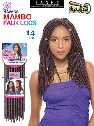 Janet Collection 2x Havana Mambo Faux Locs Crochet Braid 14