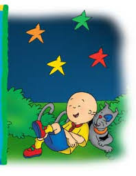 when the stars blink in the caillou with gilbert