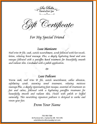 Gift Certificate Wording 24 Gift Certificate Wording Letter Format For pertaining to Gift 1