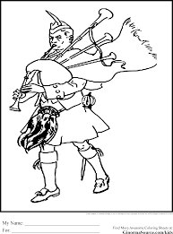Bagpipes And Kilt Coloring Pages