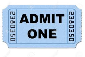Ticket Stub On White Back Ground Isolated Stock Photo Picture And