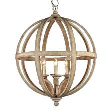 vineyard orb 4 light chandelier large round wooden orb 4 light chandelier vineyard distressed mahogany and