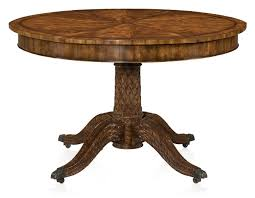 regency style hand carved mahogany extending round dining table jupe s table