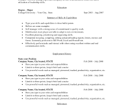 Free Simple Resume Free Basic Resume Templates Best Of Captivating Resumes For Sample 71